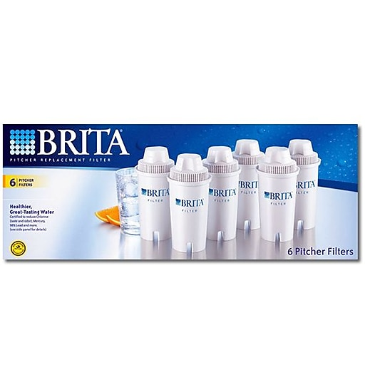 Brita Pitcher Filter 6pk 600 Gallon Water Rollover Image To Zoom In Https Www Staples 3p S7 Is