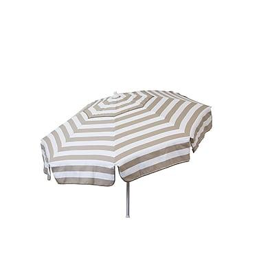 Heininger 6' Beach Umbrella; Khaki and White
