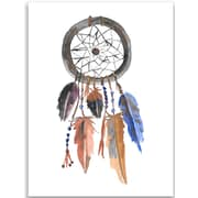 Jetty Home 10'' H x 8'' W Dream Catcher Painting Print in Blue and Brown
