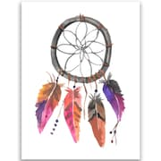 Jetty Home 10'' H x 8'' W Watercolor Dream Catcher Painting Print