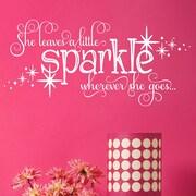 Davis Vinyl Designs She Leaves a Little Sparkle Wall Decal; White