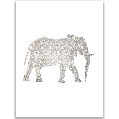 Jetty Home Rustic Elephant Painting Print