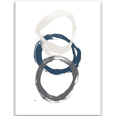 Jetty Home 10'' H x 8'' W Neutral Circle Wall Art Print