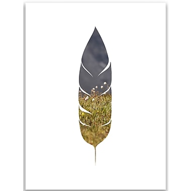 Jetty Home 10'' H x 8'' W Rocky Mountain Feather Painting Print