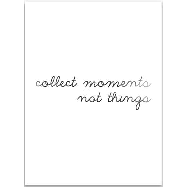 Jetty Home 10'' H x 8'' W Black and White Collect Moments Textual Art Print