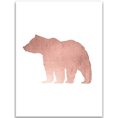 Jetty Home Rose Gold Woodland Bear Wall Art Print