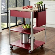 Crosley Kitchen Cart W/ Butcher Block Top