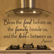 Davis Vinyl Designs Bless the Food Before Us Wall Decal