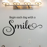 Davis Vinyl Designs Begin Each Day w/ a Smile Wall Decal
