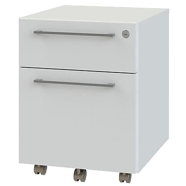 OfisLite 2-Drawer Mobile Filling Cabinet; White