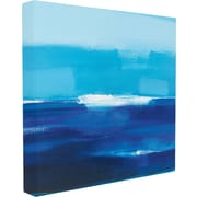 Stupell Industries Cerulean Seas Painting Print on Canvas; 24'' H x 24'' W x 1.5'' D