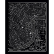 Stupell Industries New Orleans 1985 Vintage Map Graphic Art on Canvas; 20'' H x 16'' W x 1.5'' D