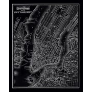 Stupell Industries New York City 1985 Vintage Graphic Art on Canvas; 30'' H x 24'' W x 1.5'' D