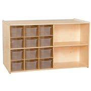 Contender™ 27.25''H x 46.75''W x 24''D Double Storage with Twelve Translucent Trays (C16601F)