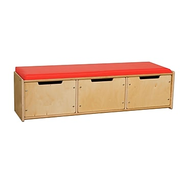 Contender™ 12.5''H x 46.75''W x 12''D Reading Bench with Drawers (C990651F)