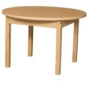 Wood Designs HPL Tables 36'' Round Table 14''H Hardwood Legs (HPL36RND14)