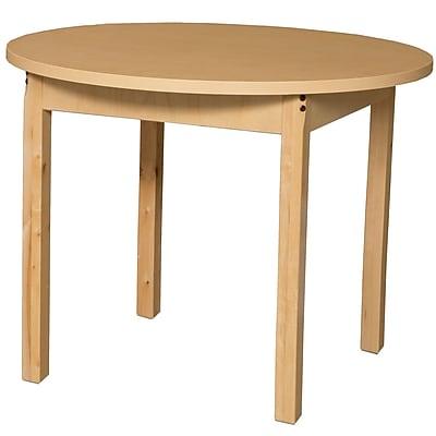 Wood Designs HPL Tables 36'' Round Table 29''H Hardwood Legs (HPL36RND29)