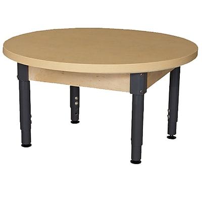 Wood Designs HPL Tables 36'' Round Table 12''-17''H Adjustable Legs (HPL36RNDA1217)