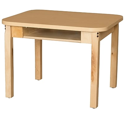 Wood Designs HPL Desks 18''D x 24''W Rectangle Desk 16'' H Hardwood Legs (HPL1824DSK16)