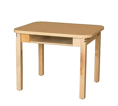 Wood Designs HPL Desks 18''D x 24''W Rectangle Desk 22'' H Hardwood Legs (HPL1824DSK22)