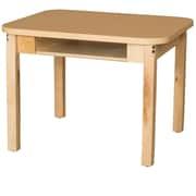 Wood Designs HPL Desks 18''D x 24''W Rectangle Desk 26'' H Hardwood Legs (HPL1824DSK26)