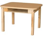 Wood Designs HPL Desks 18''D x 24''W Rectangle Desk 29'' H Hardwood Legs (HPL1824DSK29)
