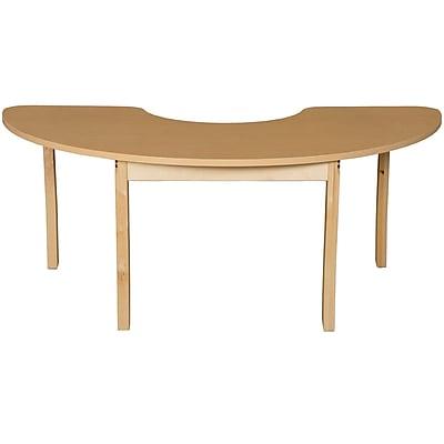 Wood Designs HPL Tables 22''D x 64''W Half Circle Table 29''H Hardwood Legs (HPL2264HCRC29)
