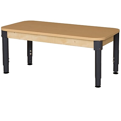Wood Designs HPL Tables 24''D x 48''W Rectangle Table 12''-17''H Adjustable Legs (HPL2448A1217)