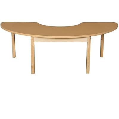 Wood Designs HPL Tables 24''D x 76''W Half Circle Table 24''H Hardwood Legs (HPL2476HCRC24)