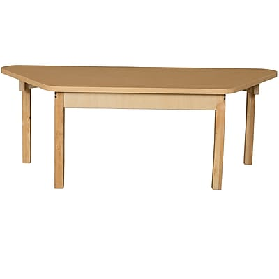 Wood Designs HPL Tables 30''D x 60''W Trapezoid Table 14''H Hardwood Legs (HPL3060TRPZ14)