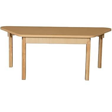 Wood Designs HPL Tables 30''D x 60''W Trapezoid Table 16''H Hardwood Legs (HPL3060TRPZ16)