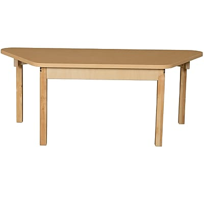 Wood Designs HPL Tables 30''D x 60''W Trapezoid Table 16''H Hardwood Legs (HPL3060TRPZ16)