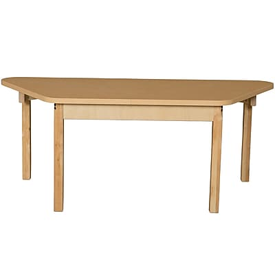 Wood Designs HPL Tables 30''D x 60''W Trapezoid Table 20''H Hardwood Legs (HPL3060TRPZ20)