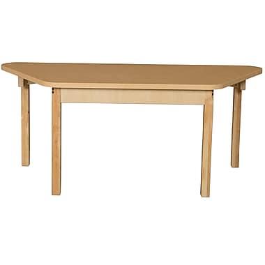 Wood Designs HPL Tables 30''D x 60''W Trapezoid Table 26''H Hardwood Legs (HPL3060TRPZ26)