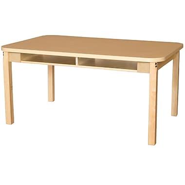 Wood Designs HPL Desks 36''D x 48''W Rectangle Desk 20'' H Hardwood Legs (HPL3648DSK20)