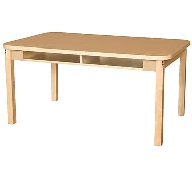Wood Designs HPL Desks 36''D x 48''W Rectangle Desk 22'' H Hardwood Legs (HPL3648DSK22)