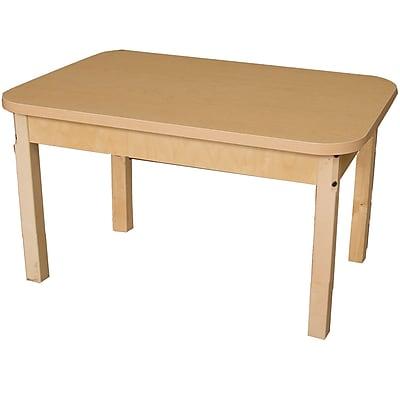Wood Designs HPL Tables 24''D x 36''W Rectangle Table 26''H Hardwood Legs (HPL243626)