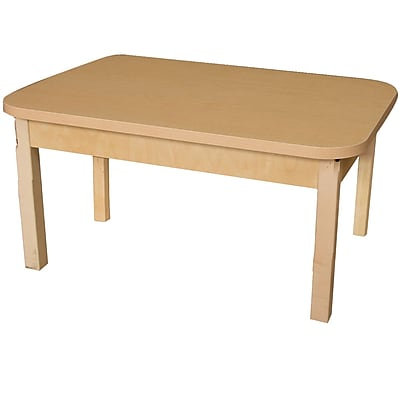 Wood Designs HPL Tables 24''D x 48''W Rectangle Table 14''H Hardwood Legs (HPL244814)