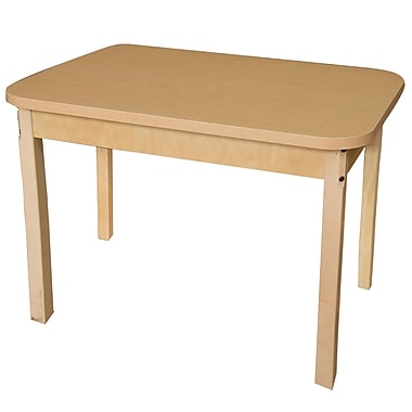 Wood Designs HPL Tables 24''D x 48''W Rectangle Table 26''H Hardwood Legs (HPL244826)