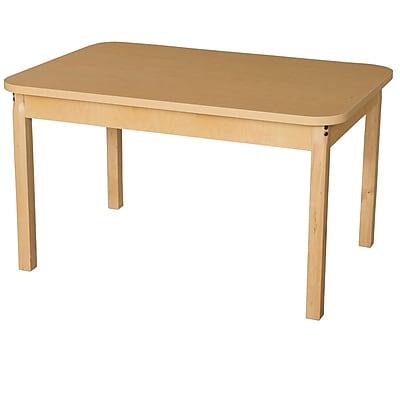 Wood Designs HPL Tables 30''D x 44''W Rectangle Table 24''H Hardwood Legs (HPL304424)