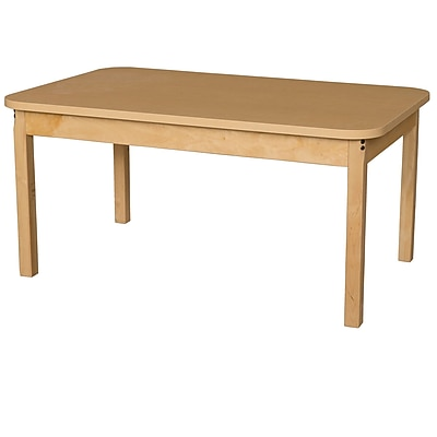 Wood Designs HPL Tables 30''D x 48''W Rectangle Table 22''H Hardwood Legs (HPL304814)HPL304822