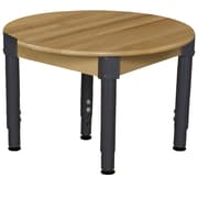 Wood Designs 30'' Round Birch Hardwood Tables 12''-17H Adjustable Legs (830A1217)