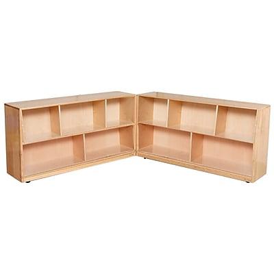 Wood Designs 24''H x 96''W x 12'' D Mobile Maple Storage (12520)