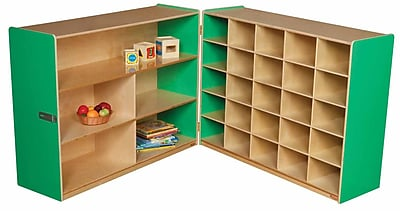 Wood Designs 38''H x 48''W x 30''D Mobile Half & Half Storage Without Trays (23639G) 2365907