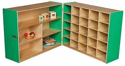 Wood Designs 38''H x 48''W x 30''D Mobile Half & Half Storage Without Trays (23639G)