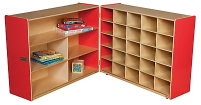Wood Designs 38''H x 48''W x 30''D Mobile Half & Half Storage Without Trays (23639R) 2365906