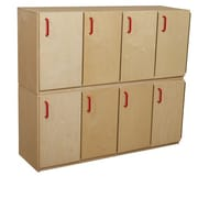 Wood Designs 20''H x 49''W x 15''D Stacking Lockers with Doors-Two Units (46320)