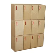 Wood Designs 20''H x 49''W x 15''D Stacking Lockers with Doors-Three Units (46330)