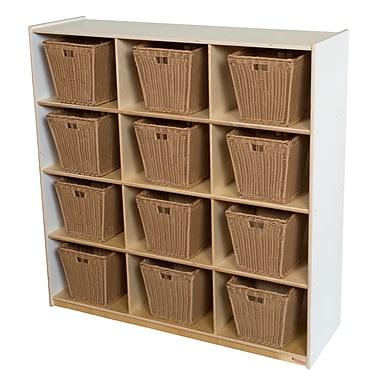Wood Designs 49''H x 48''W x 15''D Big Cubby White Storage with 12 Baskets (50912WHT-719)
