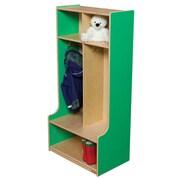 Wood Designs 49''H x 24''W x 11''-15''D Two Section Seat Locker (52400G)